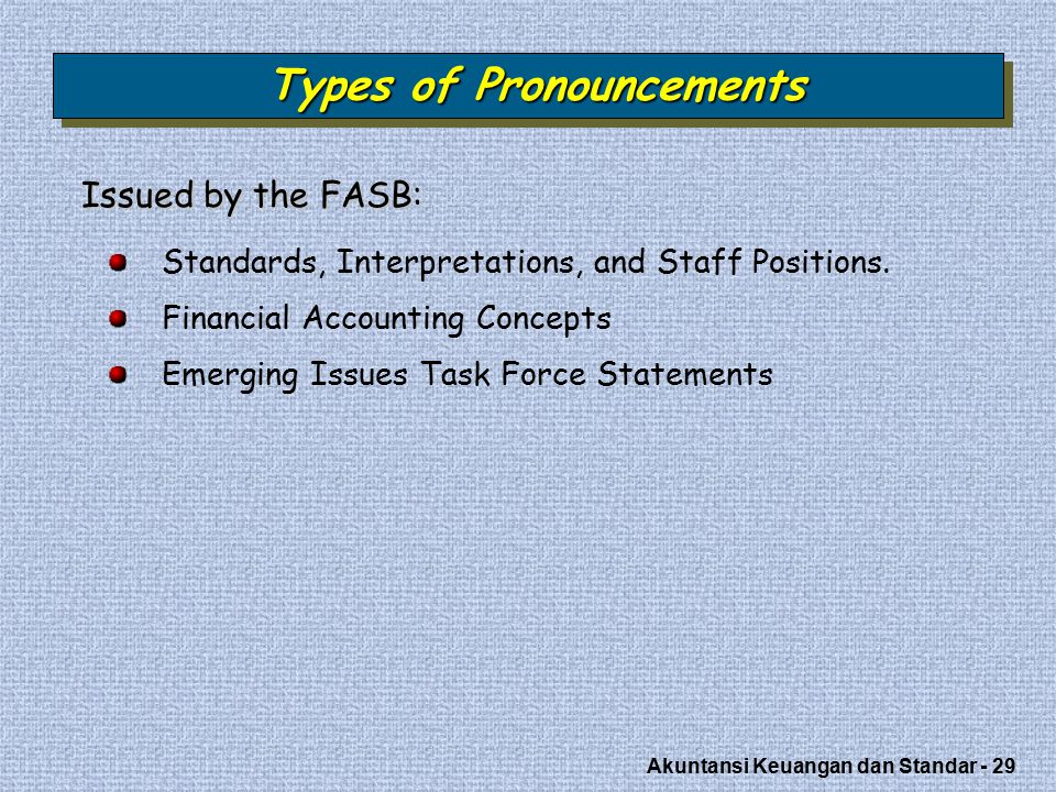 Types of Pronouncements