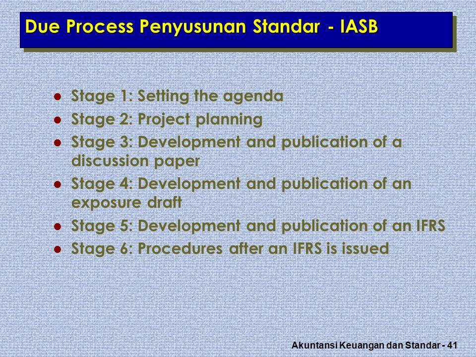 Due Process Penyusunan Standar - IASB