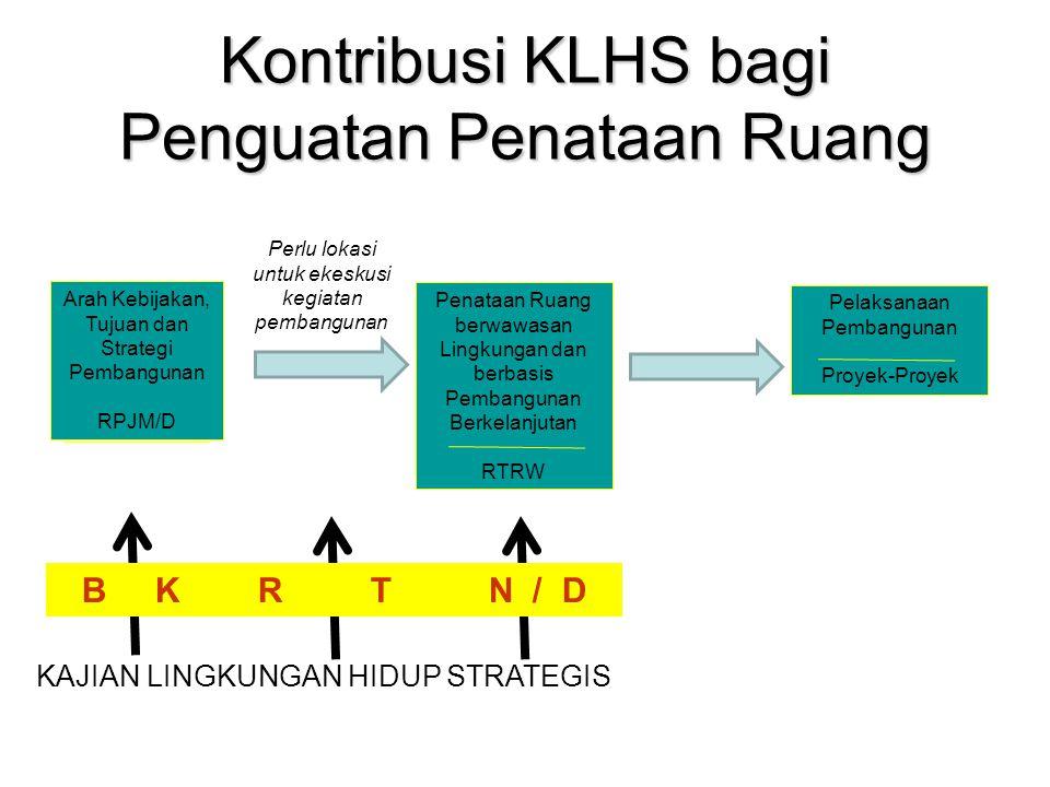 Kontribusi KLHS bagi Penguatan Penataan Ruang