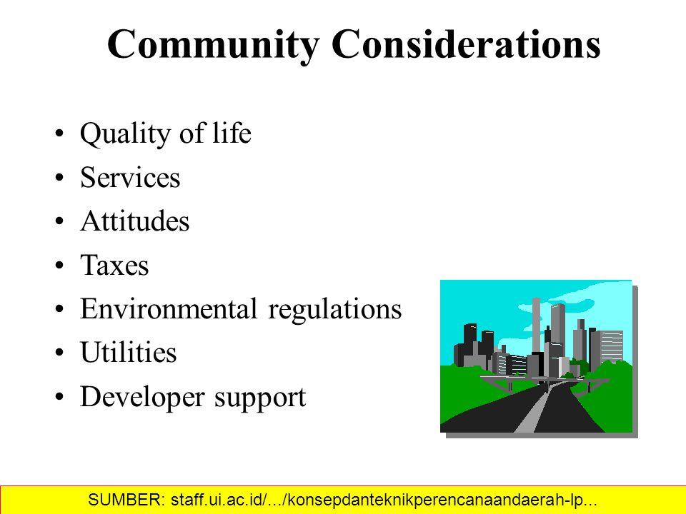 Community Considerations