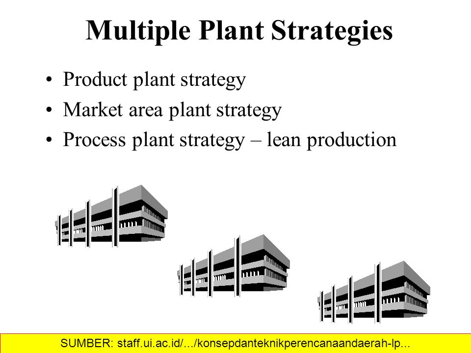 Multiple Plant Strategies