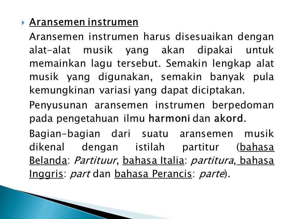 Aransemen instrumen