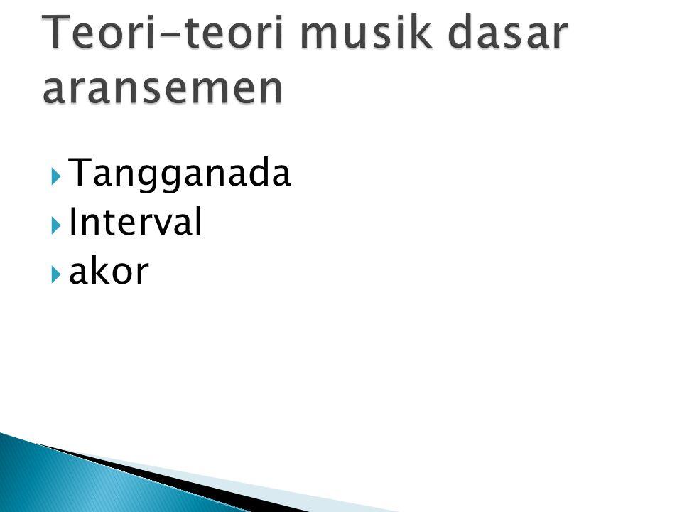 Teori-teori musik dasar aransemen