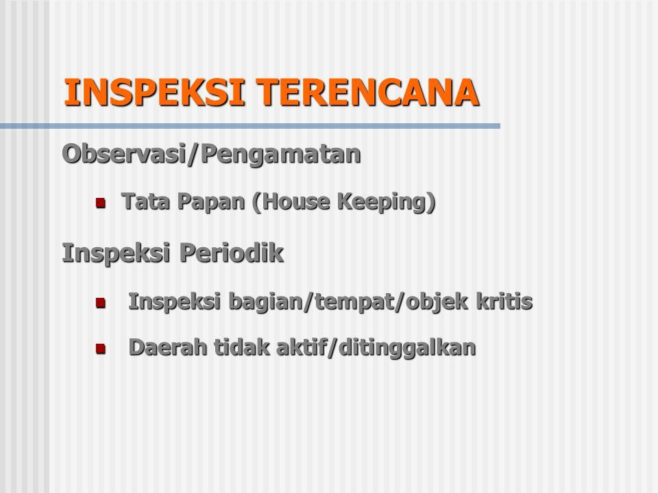 INSPEKSI TERENCANA Observasi/Pengamatan Inspeksi Periodik