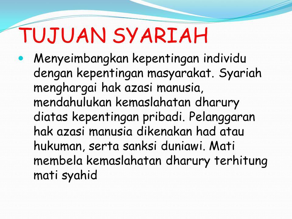 TUJUAN SYARIAH