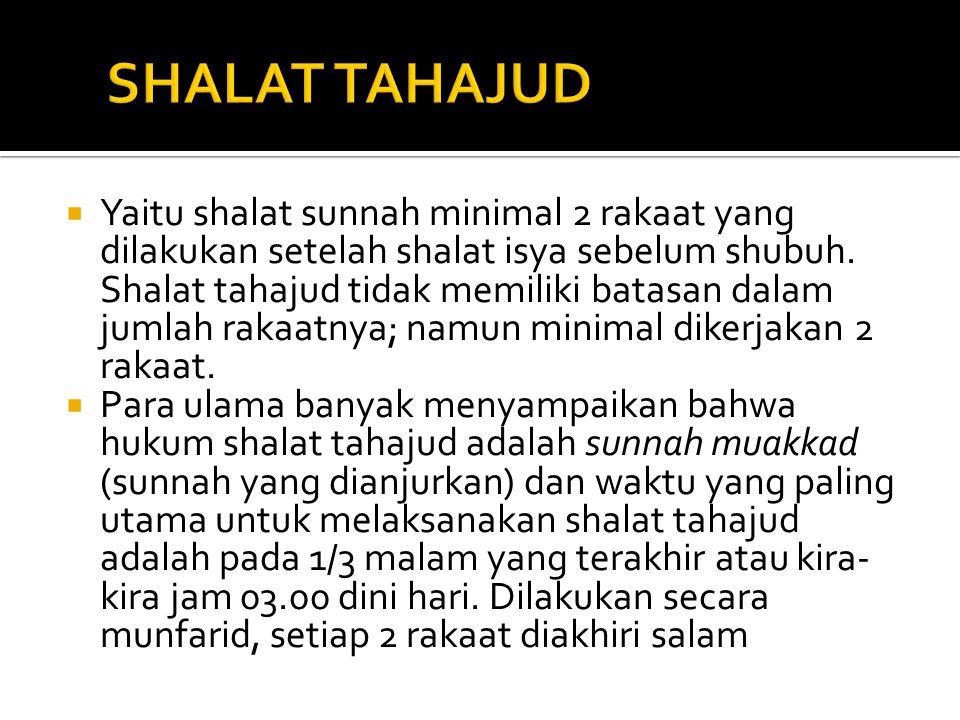 SHALAT TAHAJUD