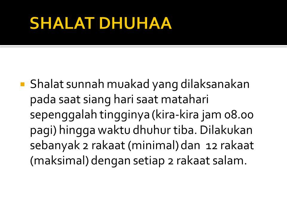 SHALAT DHUHAA