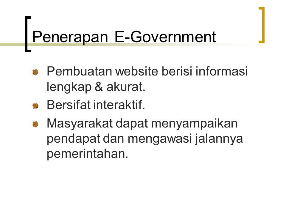 Penerapan E-Government