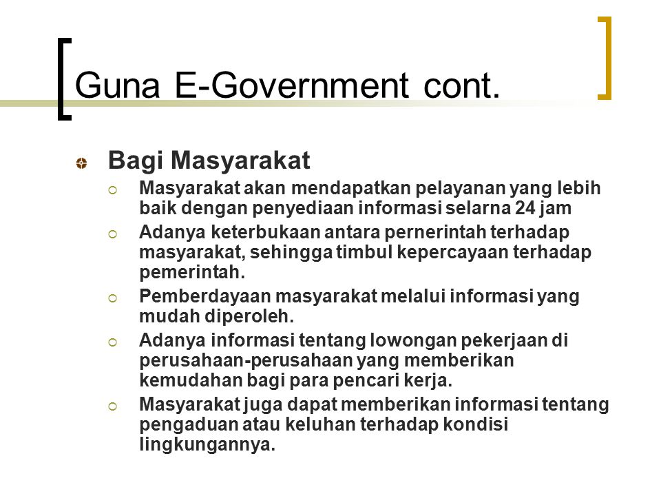 Guna E-Government cont.