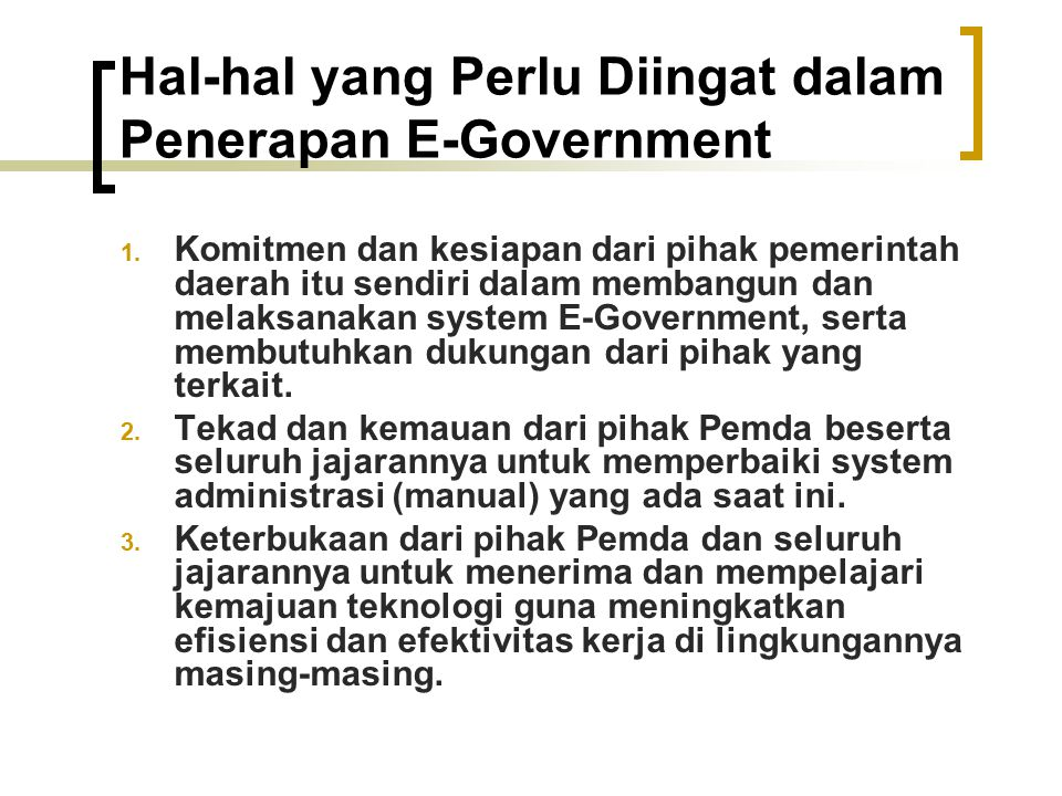 Hal‑hal yang Perlu Diingat dalam Penerapan E‑Government