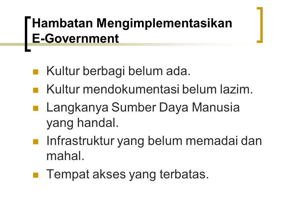 Hambatan Mengimplementasikan E‑Government