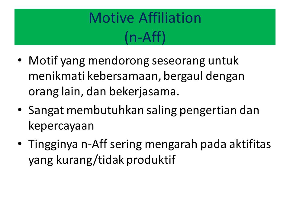 Motive Affiliation (n-Aff)