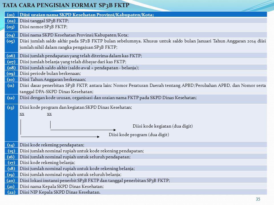 TATA CARA PENGISIAN FORMAT SP3B FKTP