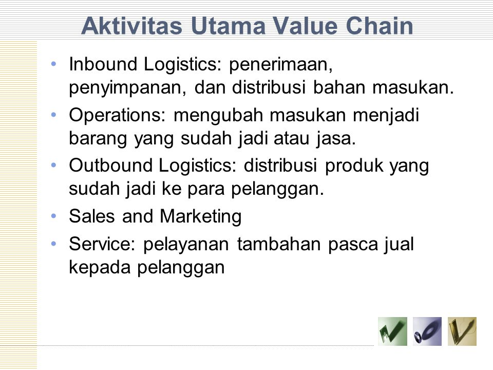 Aktivitas Utama Value Chain