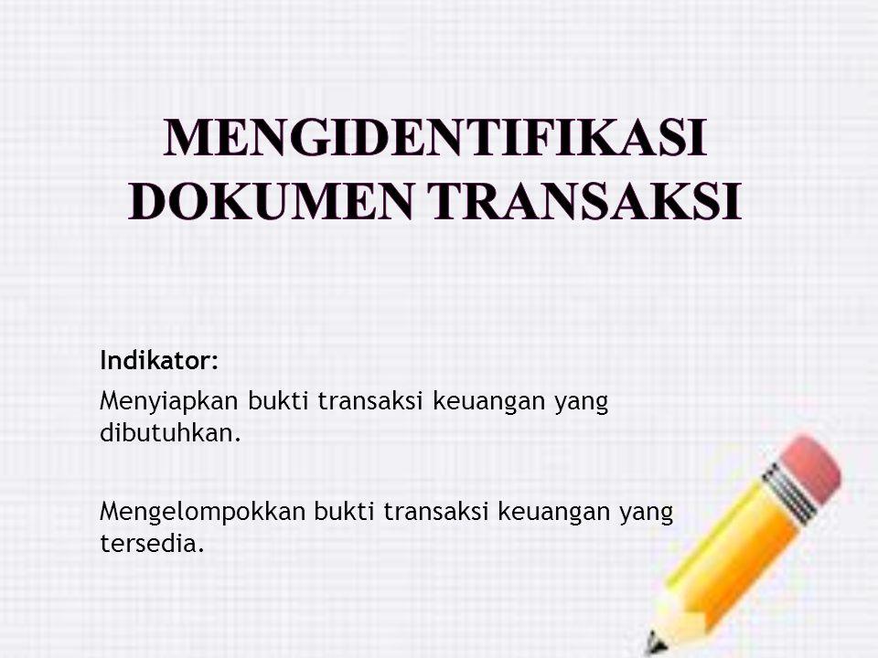 Mengidentifikasi Dokumen Transaksi
