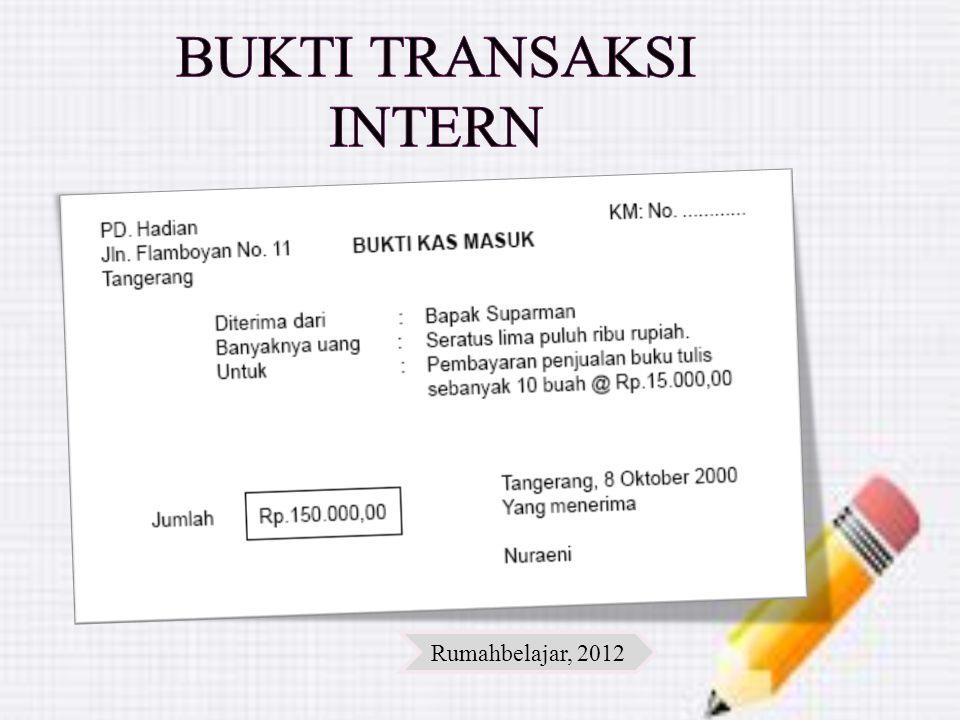 Bukti transaksi intern