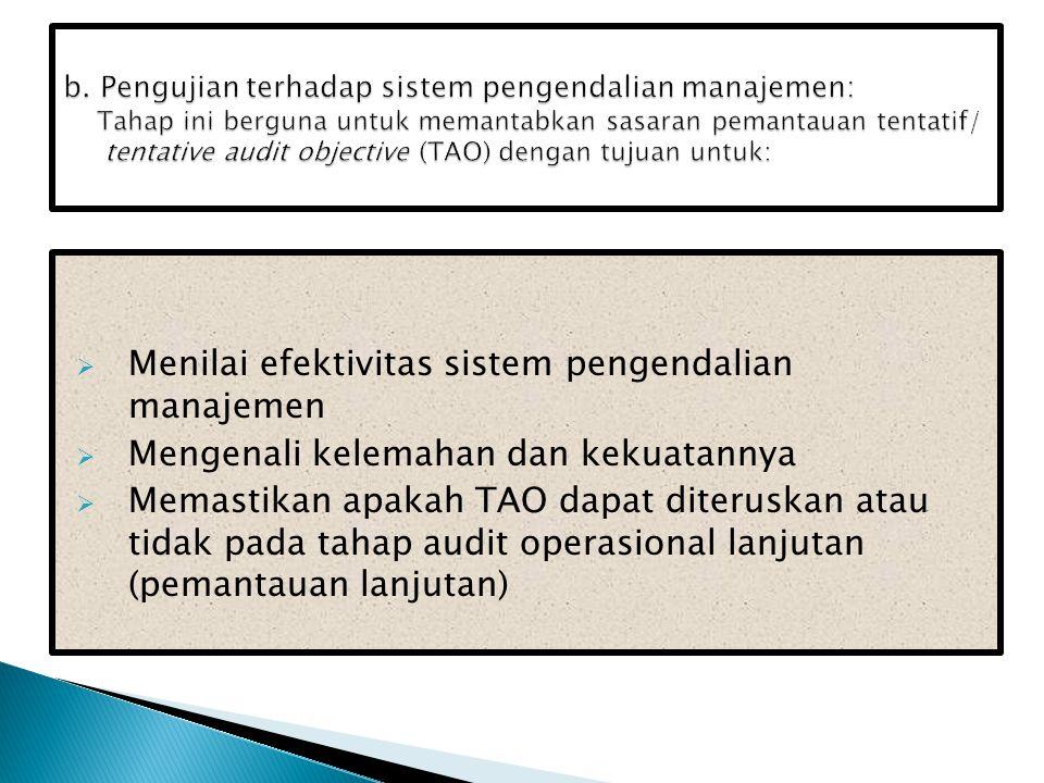 Menilai efektivitas sistem pengendalian manajemen