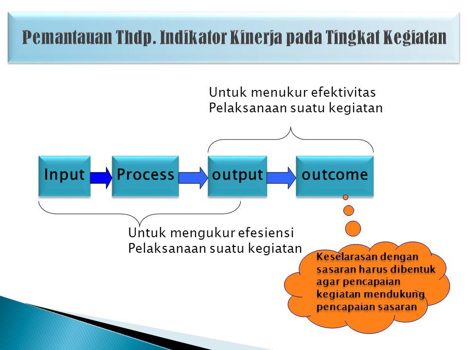 Pemantauan Thdp. Indikator Kinerja pada Tingkat Kegiatan