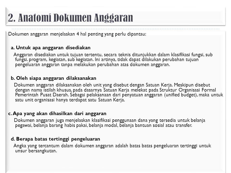 2. Anatomi Dokumen Anggaran