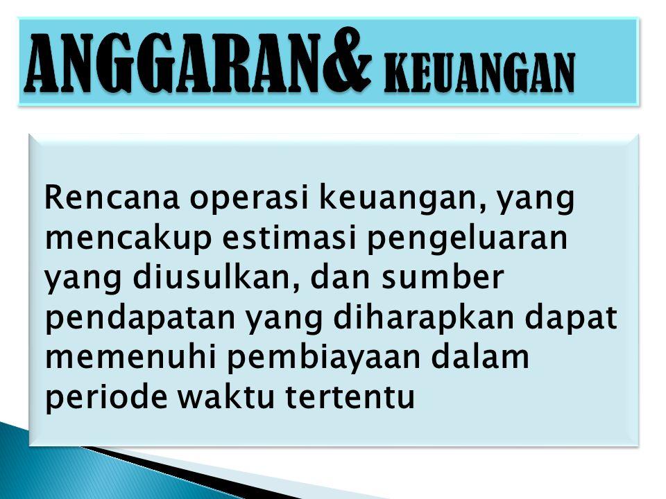 ANGGARAN& KEUANGAN