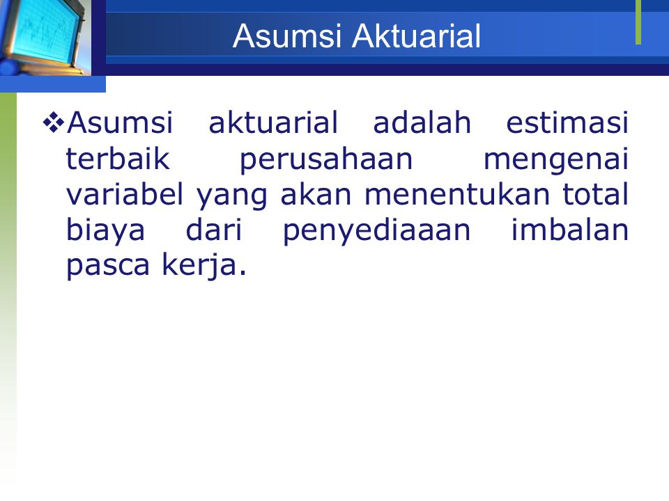 Asumsi Aktuarial