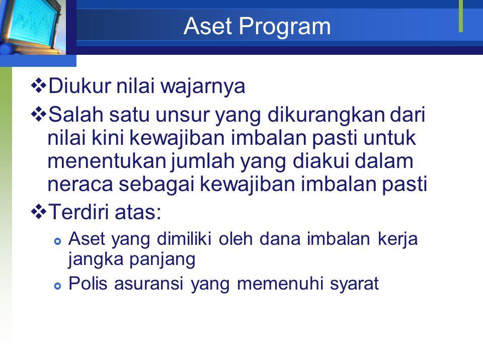 Aset Program Diukur nilai wajarnya