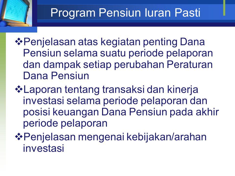 Program Pensiun Iuran Pasti