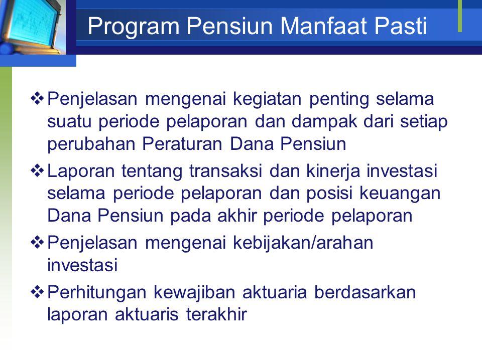 Program Pensiun Manfaat Pasti