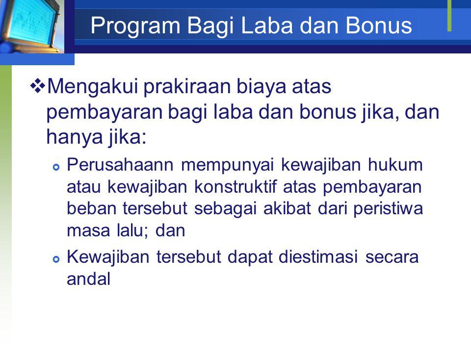 Program Bagi Laba dan Bonus