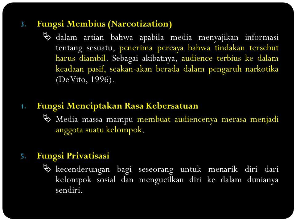 Fungsi Membius (Narcotization)