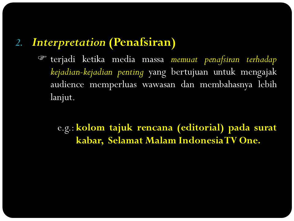 Interpretation (Penafsiran)