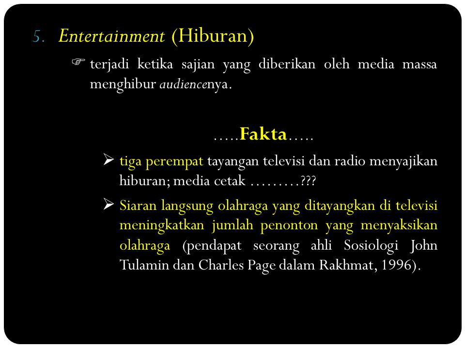 Entertainment (Hiburan)