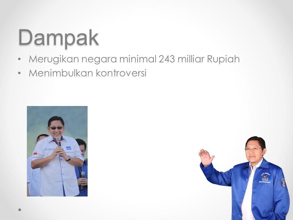 Dampak Merugikan negara minimal 243 milliar Rupiah