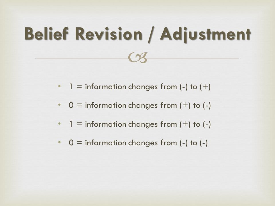 Belief Revision / Adjustment