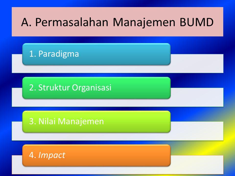A. Permasalahan Manajemen BUMD