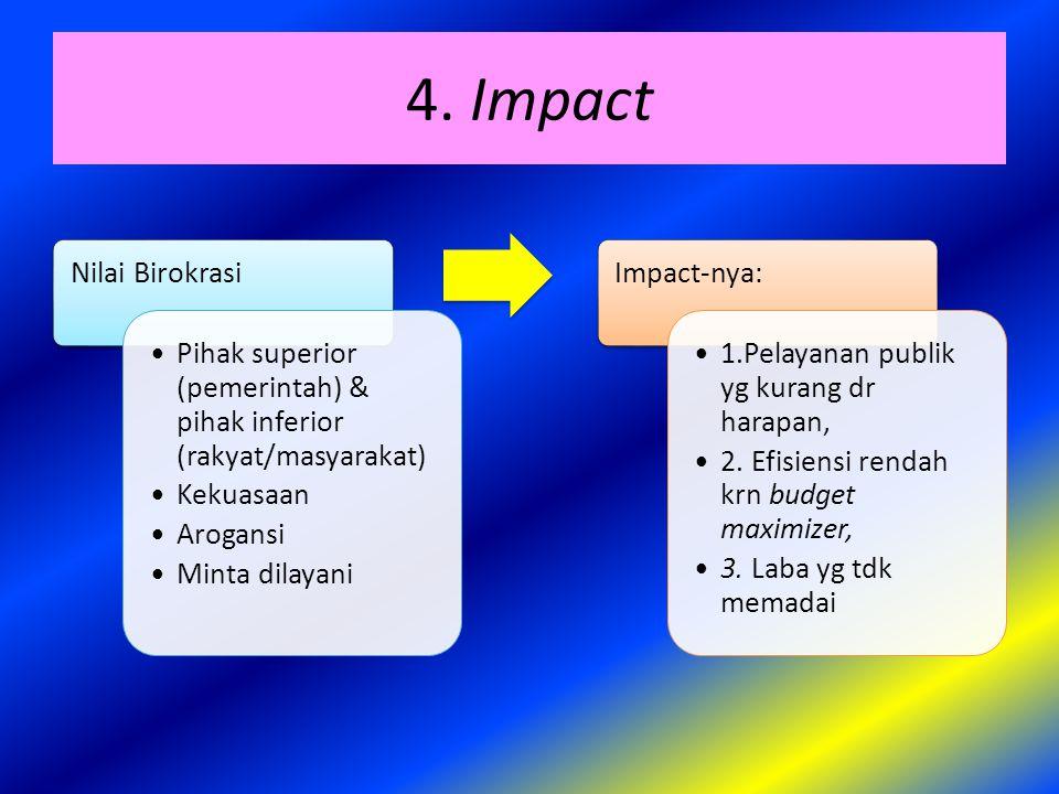 4. Impact Nilai Birokrasi