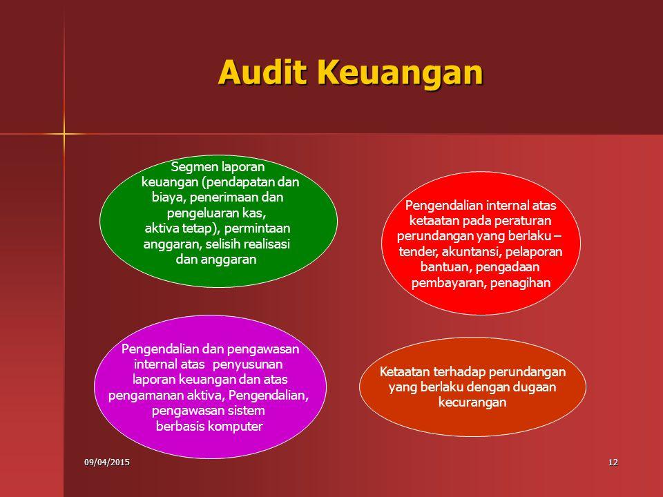 Audit Keuangan Segmen laporan keuangan (pendapatan dan