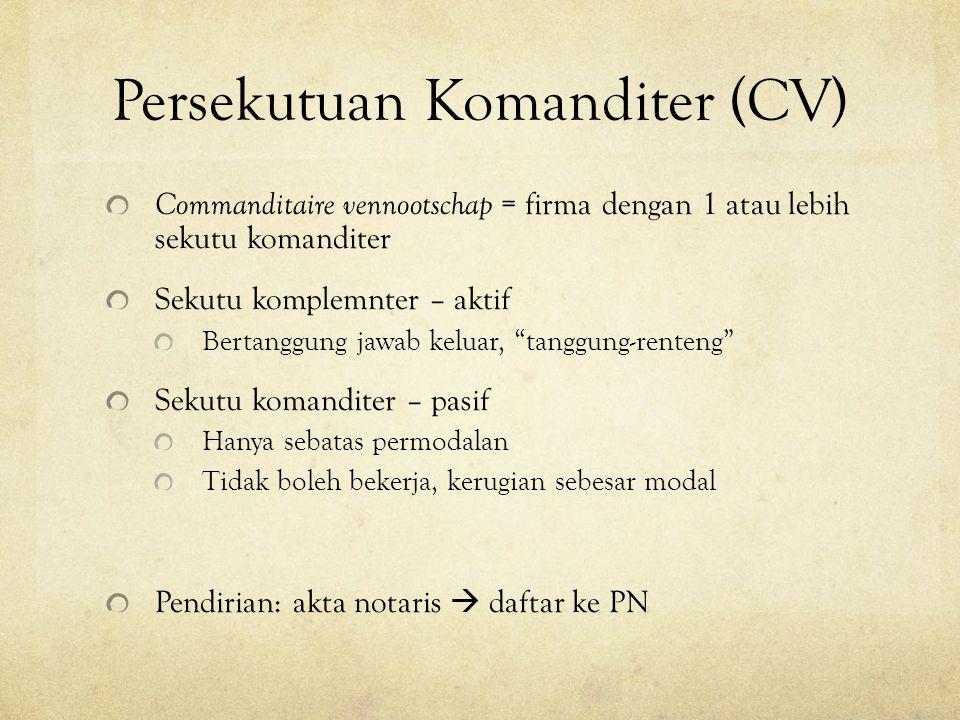 Persekutuan Komanditer (CV)