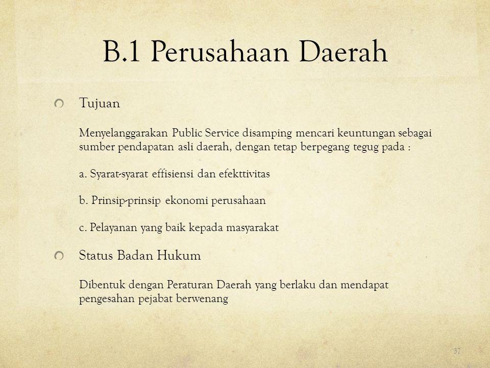 B.1 Perusahaan Daerah Tujuan
