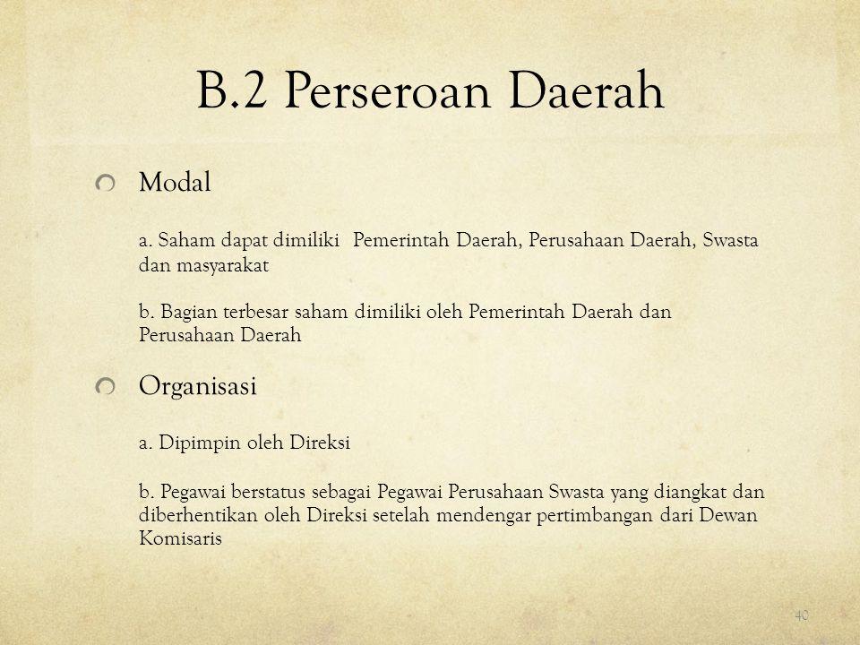 B.2 Perseroan Daerah Modal
