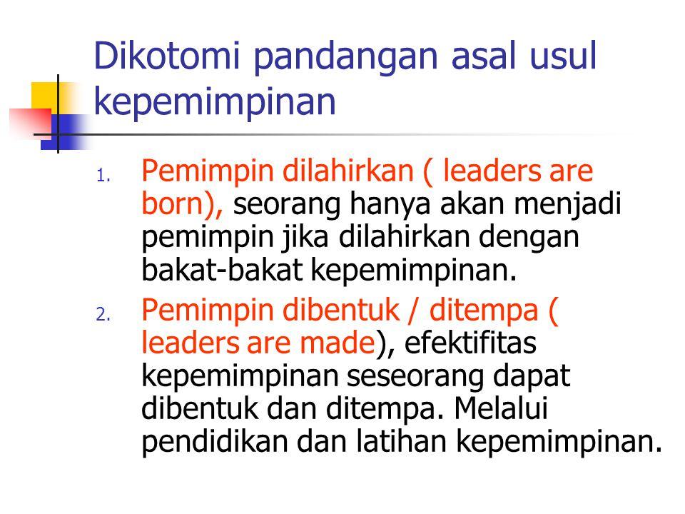 Dikotomi pandangan asal usul kepemimpinan