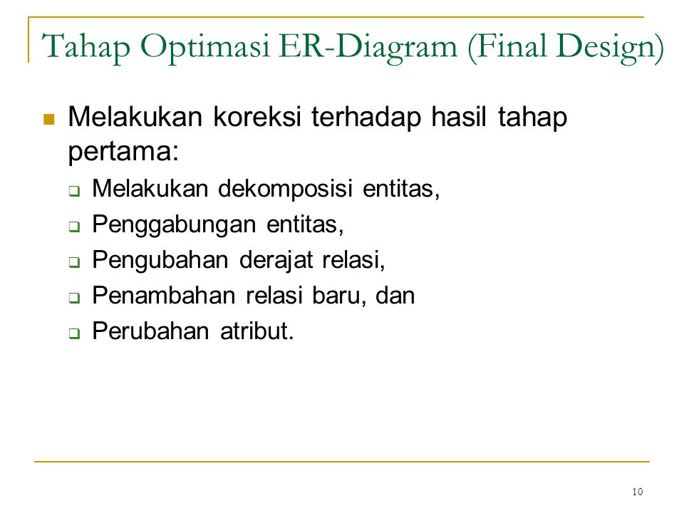 Tahap Optimasi ER-Diagram (Final Design)
