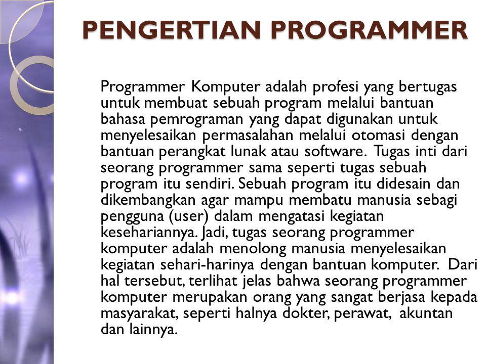 PENGERTIAN PROGRAMMER