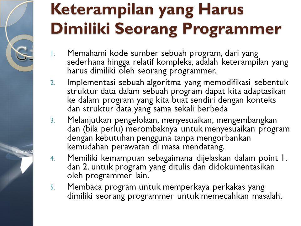 Keterampilan yang Harus Dimiliki Seorang Programmer