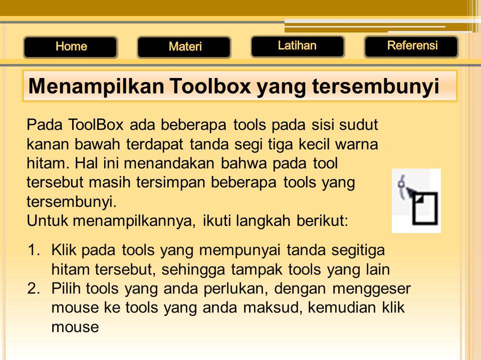 Menampilkan Toolbox yang tersembunyi