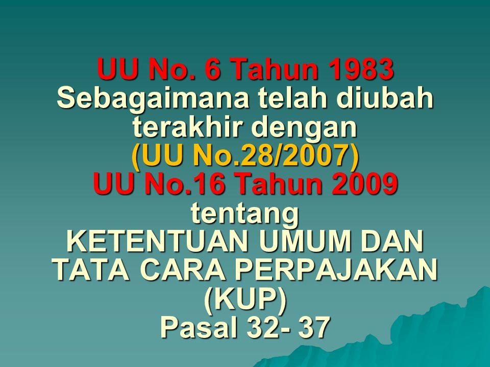 UU No. 6 Tahun 1983 Sebagaimana telah diubah terakhir dengan (UU No