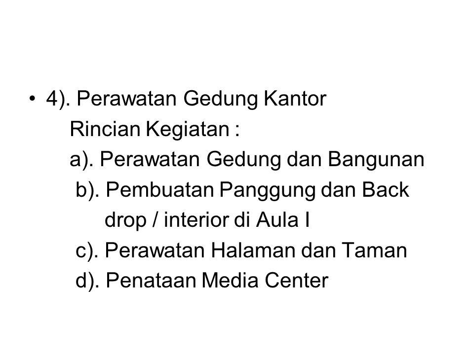 4). Perawatan Gedung Kantor