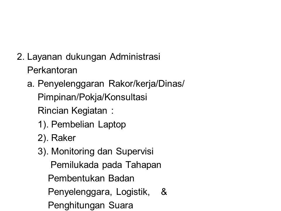 2. Layanan dukungan Administrasi Perkantoran a