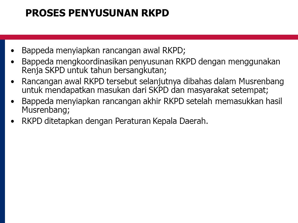 PROSES PENYUSUNAN RKPD