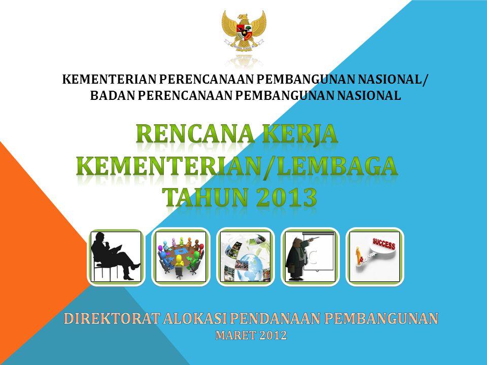 Rencana kerja kementerian/lembaga tahun 2013